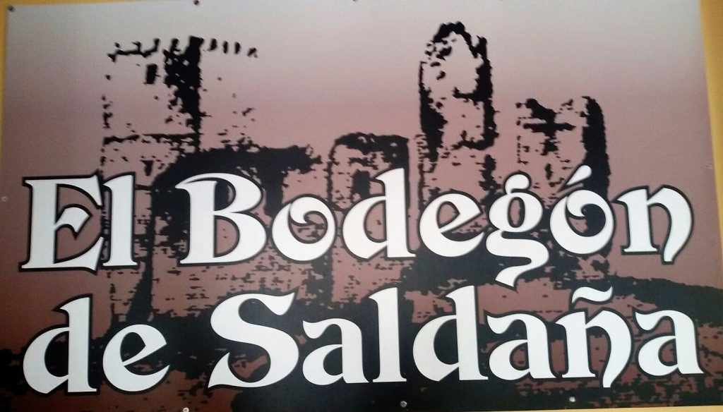 Cartel bar El Bodegon de Saldaña, en Tenerife