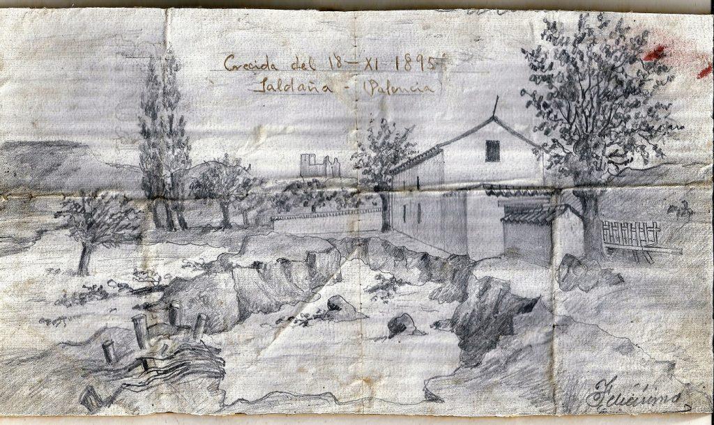 Dibujo crecida, 1895